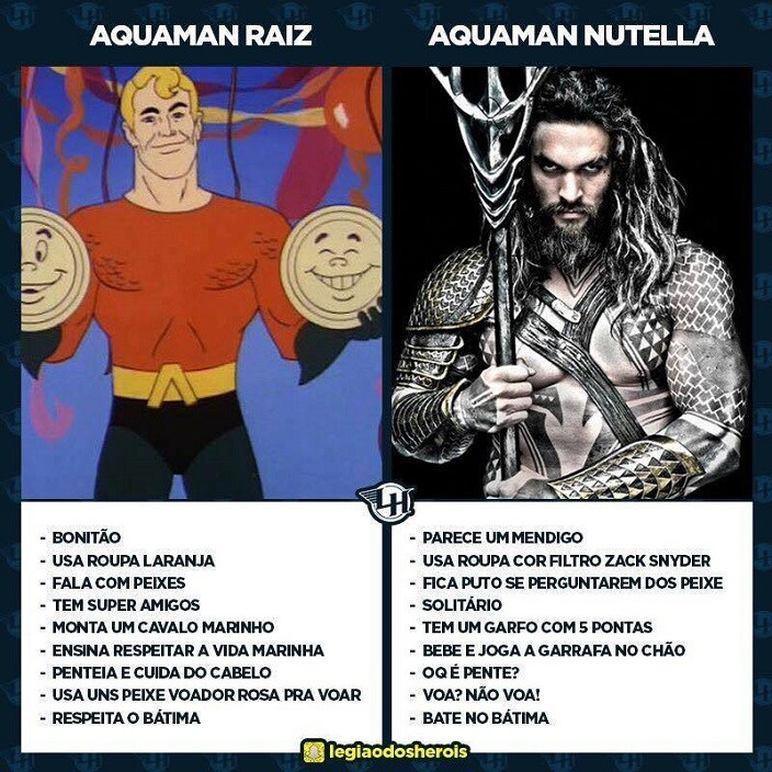 aquaman raiz nutella