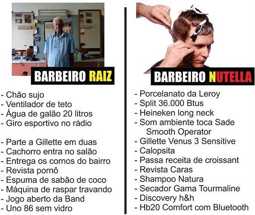 barbeiro raiz nutella