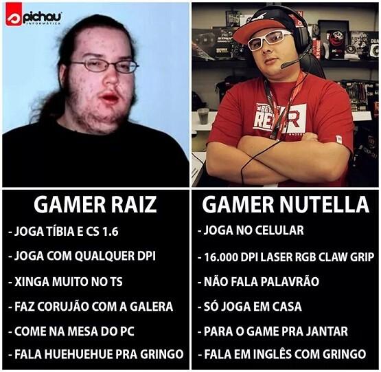 gamer raiz nutella