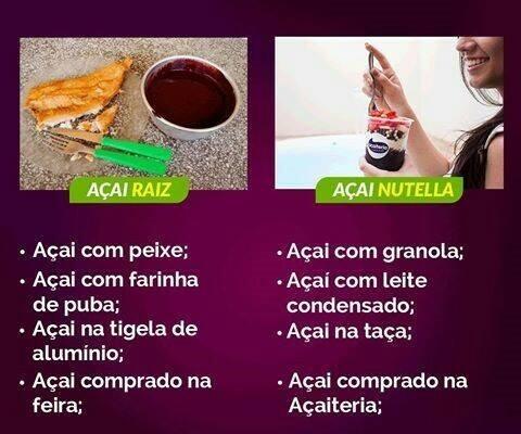 Açaí Raiz x Açaí Nutella