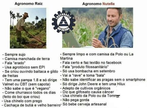 Agrônomo Raiz x Agrônomo Nutella