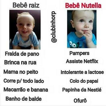Bebê Raiz x Bebê Nutella