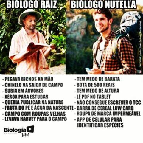 Biólogo Raiz x Biólogo Nutella
