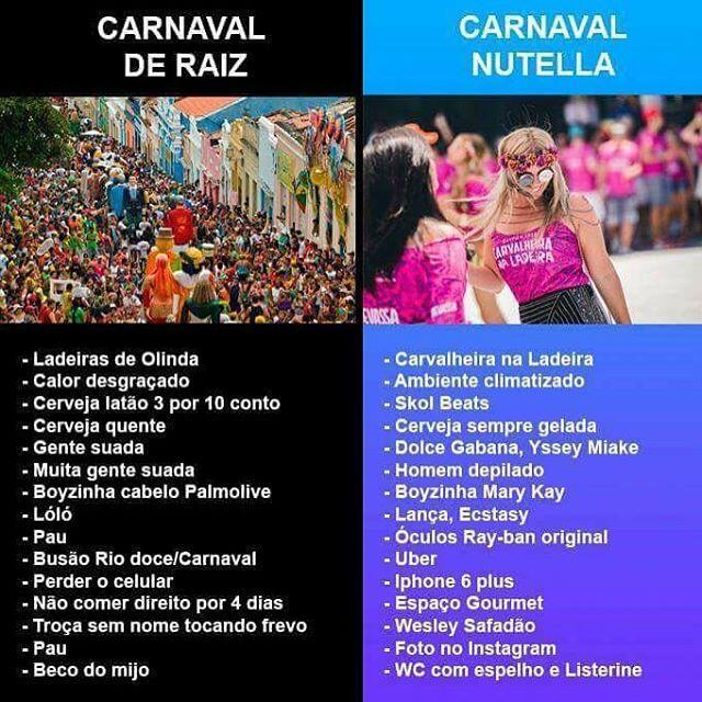 Carnaval Raiz x Carnaval Nutella