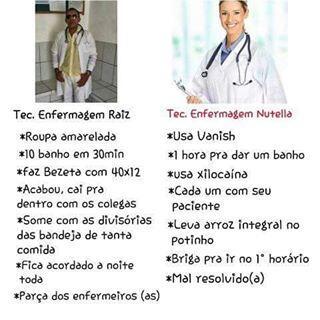 Enfermeira Raiz x Enfermeira Nutella