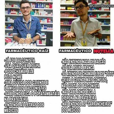 Farmacêutico Raiz x Farmacêutico Nutella