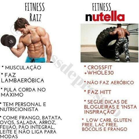 Fitness Raiz x Fitness Nutella