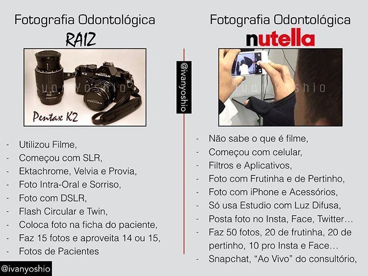 Fotógrafo Raiz x Fotógrafo Nutella