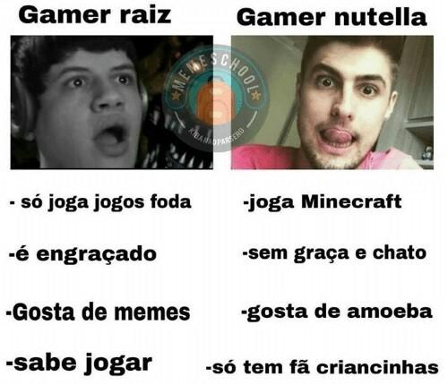 Gamer Raiz x Gamer Nutella