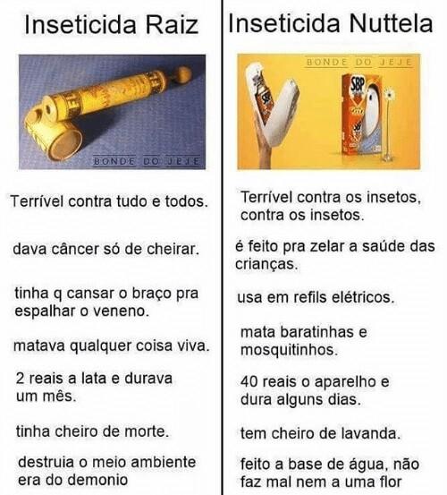 Inseticida Raiz x Inseticida Nutella