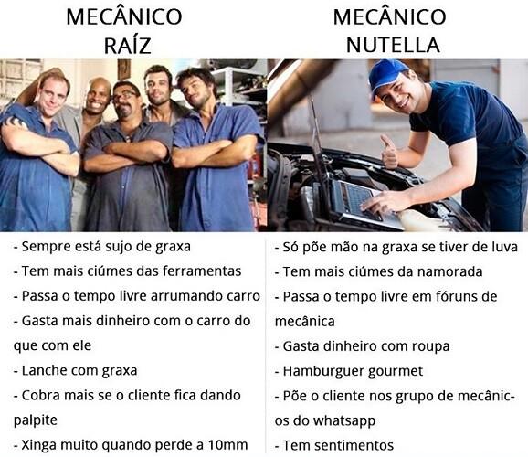 Mecânico Raiz x Mecânico Nutella