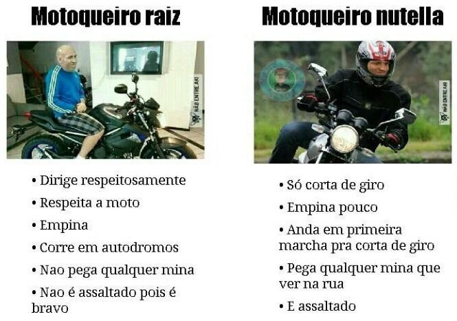 Motoqueiro Raiz x Motoqueiro Nutella