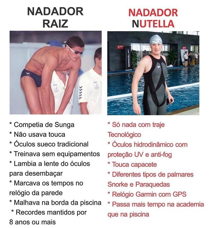 Nadador Raiz x Nadador Nutella