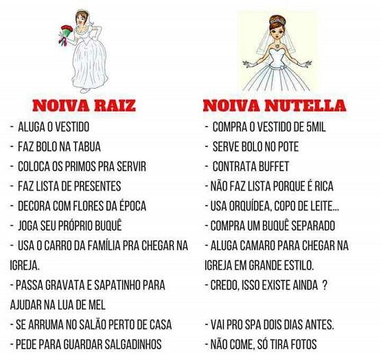 Noiva Raiz x Noiva Nutella