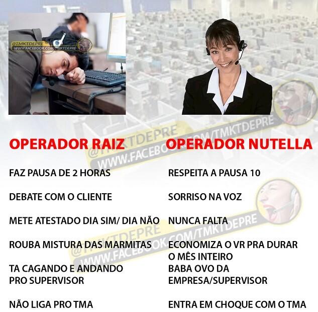 Operador Raiz x Operador Nutella
