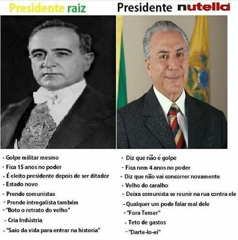 Presidente Raiz x Presidente Nutella