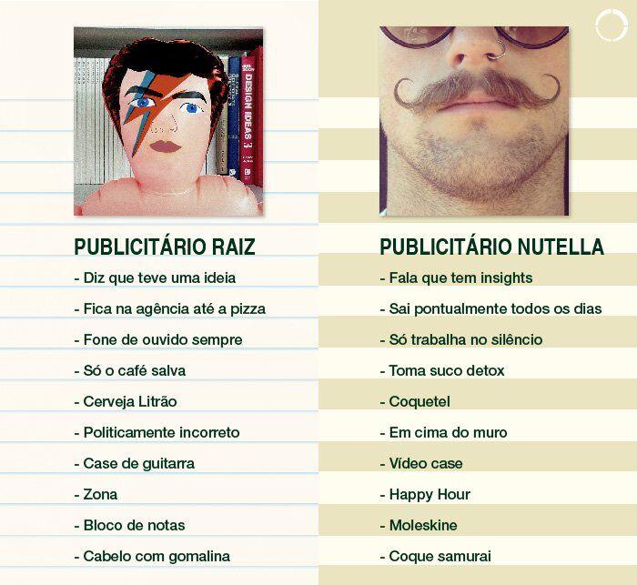 Publicitário Raiz x Publicitário Nutella