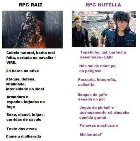 RPG Raiz x RPG Nutella