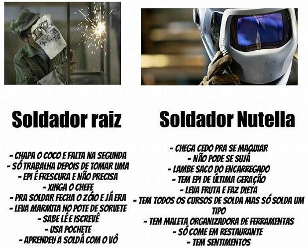 Soldador Raiz x Soldador Nutella