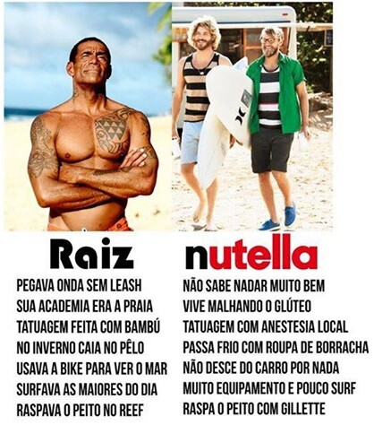 Surfista Raiz x Surfista Nutella
