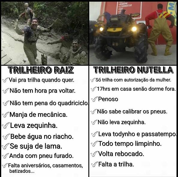 Trilheiro Raiz x Trilheiro Nutella