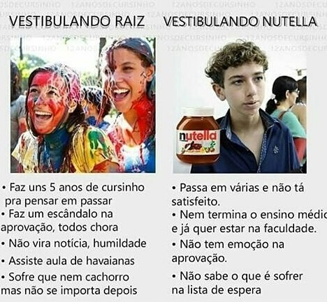 Vestibulando Raiz x Vestibulando Nutella