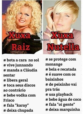 Xuxa Raiz x Xuxa Nutella