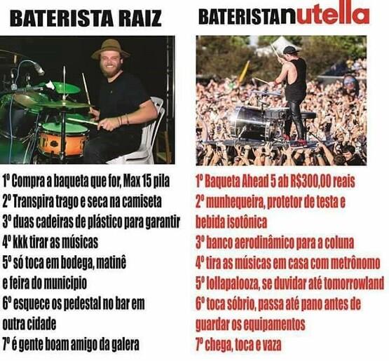 top memes baterista raiz baterista nutella