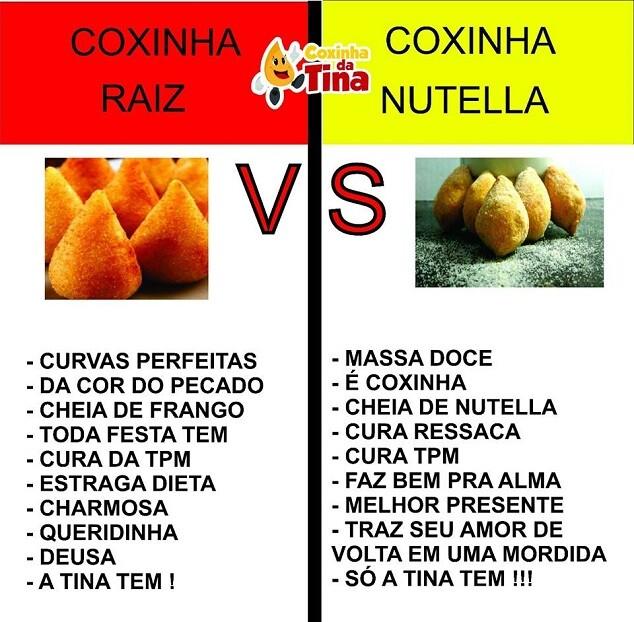 top memes coxinha raiz coxinha nutella